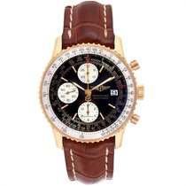 Breitling Yellow gold Automatic Black 41.5mm pre-owned Navitimer