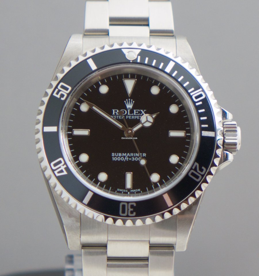 rolex submariner no date verklebt two liner 2 line fat. Black Bedroom Furniture Sets. Home Design Ideas