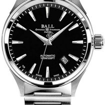 Ball Fireman Victory Steel 40mm Black No numerals