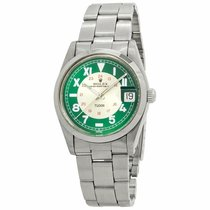 Tudor Prince Date Steel 34mm Green United States of America, New York, New York