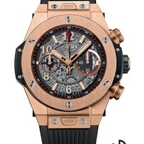 Hublot Yellow gold Automatic Black 45mm new Big Bang Unico