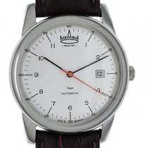 Askania Tegel Steel 40mm White Arabic numerals