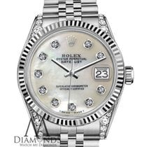 Rolex Woman's Rolex 36mm Datejust Stainless Steel White...