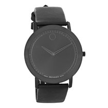 Movado Sapphire Series Mens Black Finish Swiss Quartz Watch...