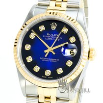 Rolex Datejust 16233 Sapphire Blue Diamond Dial
