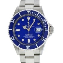 Rolex Submariner 16610  Stainless Steel Blue Ceramic Diamond