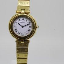 Cartier Gelbgold Quarz Weiß Römisch gebraucht Santos (submodel)