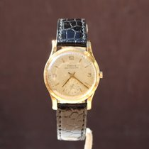 Doxa Vintage 14k Gold 'Calatrava' 31mm dress watch in gold