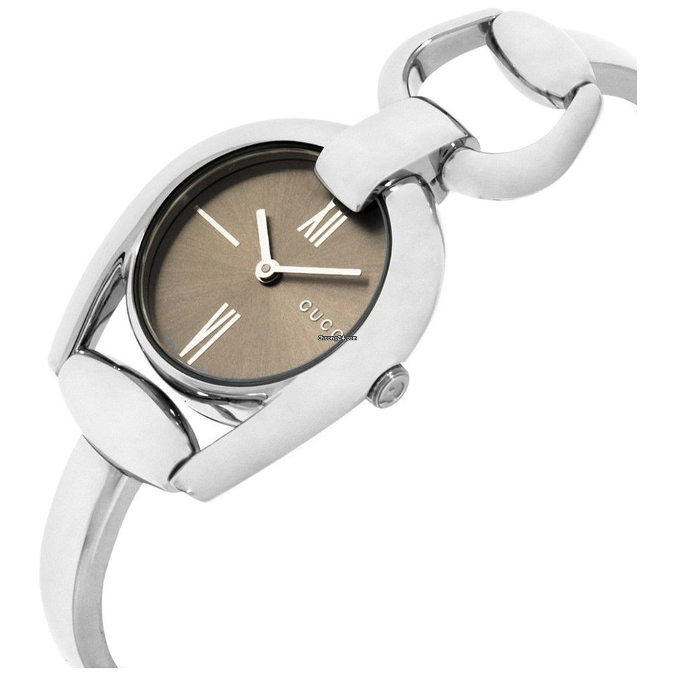 6af14b15a64 Gucci Horsebit Brown Dial Stainless Steel Ladies Watch Ya139501 for  335  for sale from a Seller on Chrono24