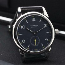 NOMOS pre-owned Manual winding 38.5mm Blue Sapphire Glass