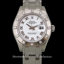 Rolex Lady-Datejust Pearlmaster Or blanc 29mm Blanc Romain France, Paris