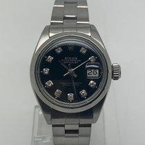 Rolex Oyster Perpetual Lady Date Acier 26mm Noir Sans chiffres France, Paris