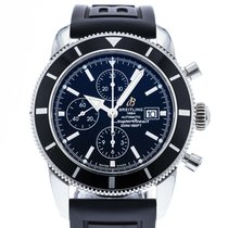 Breitling Superocean Héritage Chronograph pre-owned 46mm Black Date Rubber