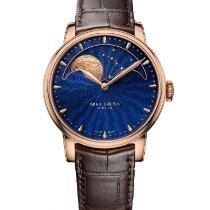 Arnold & Son HM Perpetual Moon Aur roz 42mm Albastru Fara cifre