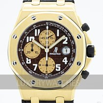 Audemars Piguet Royal Oak Offshore Gult guld 42mm Brun