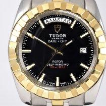 Tudor Classic Or/Acier 41mm Noir Sans chiffres