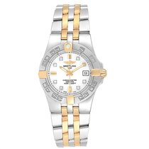 Breitling Galactic 30 Gold/Steel 30mm White