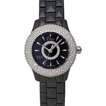 Dior VIII Black Ceramic and Steel Diamond Ladies Watch...