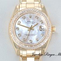 Rolex Datejust Pearlmaster 34 Gelbgold 750 Diamanten Perlmutt