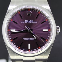Rolex Oyster Perpetual Steel 39MM Grape Dial, Full Set