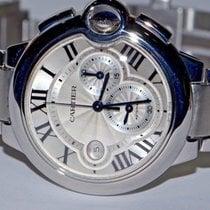 Cartier Ballon Bleu 44mm pre-owned 47mm Silver Chronograph Date Steel