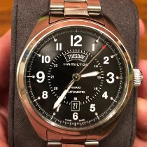 Hamilton 42mm Automatic 2015 pre-owned Khaki Field Day Date Black