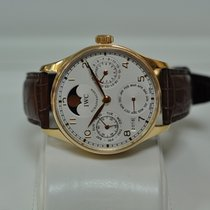 IWC 33.4mm Automatic 2012 pre-owned Portuguese Perpetual Calendar Pink