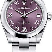 Rolex Oyster Perpetual 31 Steel 31mm Purple Arabic numerals United States of America, New York, New York
