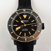 Alpina Seastrong Steel 44mm Black No numerals