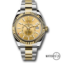 Rolex Sky-Dweller Gold/Steel 42mm Champagne No numerals United States of America, New York, Fresh Meadows