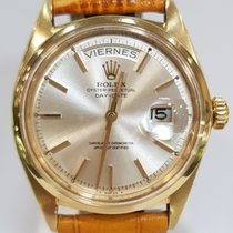 Rolex Day-Date Yellow gold 36mm Silver No numerals