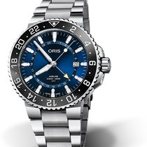 Oris Aquis GMT Date Steel 43.5mm Blue