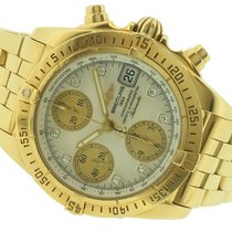 Breitling Yellow gold Automatic Mother of pearl No numerals 39mm pre-owned Chrono Cockpit
