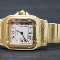 Cartier Santos Galbée Yellow gold 24mm Champagne Roman numerals United States of America, Florida, Hollywood, FL
