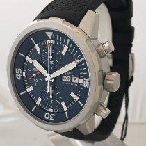 IWC Aquatimer Chronograph Stahl 44mm Blau Keine Ziffern