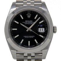 Rolex Datejust Stahl 41mm Schwarz