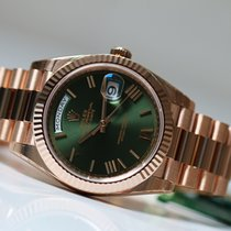Rolex Day-Date 40 Or rose 40mm Vert Romains France, Thonon les bains