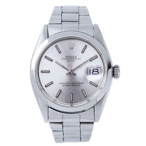 Rolex Oyster Perpetual Date Silver Sigma Dial ref. 1500 FULL SET