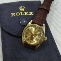 """Rolex Vintage Oyster Perpetual Ladies Date 18K gold """"UAE..."""
