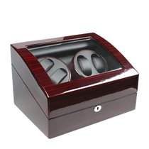AXIS Ebony Finish Automatic 4 Watch Winder With 5 Storage ny