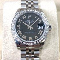 Rolex Lady Datejust Black Roman Diamond Bezel Sonnenschliff LC100