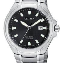 Citizen Titanium 42,5mm Quartz BM7430-89E CITIZEN  Super Titanio UOMO  42mm Nero new