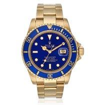 勞力士 Submariner Date Yellow Gold Blue Dial 40mm