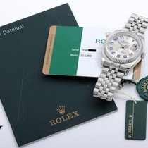Rolex 2015 36mm SS Silver Arabic Concentric dial w/ box & papers