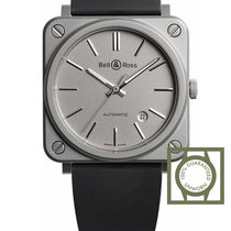 Bell & Ross BR S-92 Matte Grey 39 mm Automatic Microblasted...