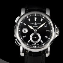 Ulysse Nardin 42mm Automatic 2012 pre-owned Dual Time Black