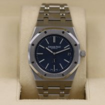Audemars Piguet Royal Oak Jumbo Stal 39mm Niebieski Bez cyfr