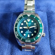 Seiko Steel 53mm Green No numerals United States of America, New Jersey, Hoboken, New Jersey