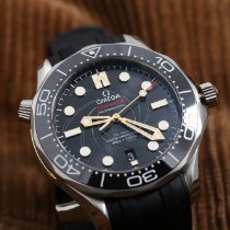 Omega Seamaster Diver 300 M Staal 42mm Zwart Geen cijfers