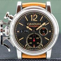 Graham Chronofighter Steel 44mm Blue Arabic numerals United States of America, Massachusetts, Boston